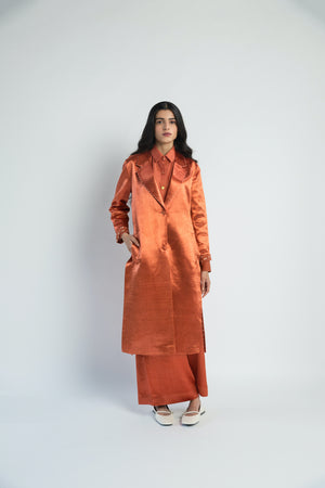 Sungold Mashru Tailored Handwoven Cotton Silk Jacket