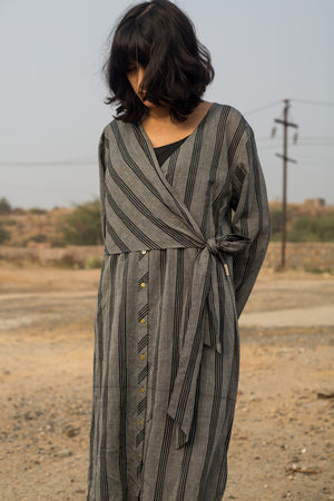 Infinite Knotted Shirt Handwoven Cotton Dress