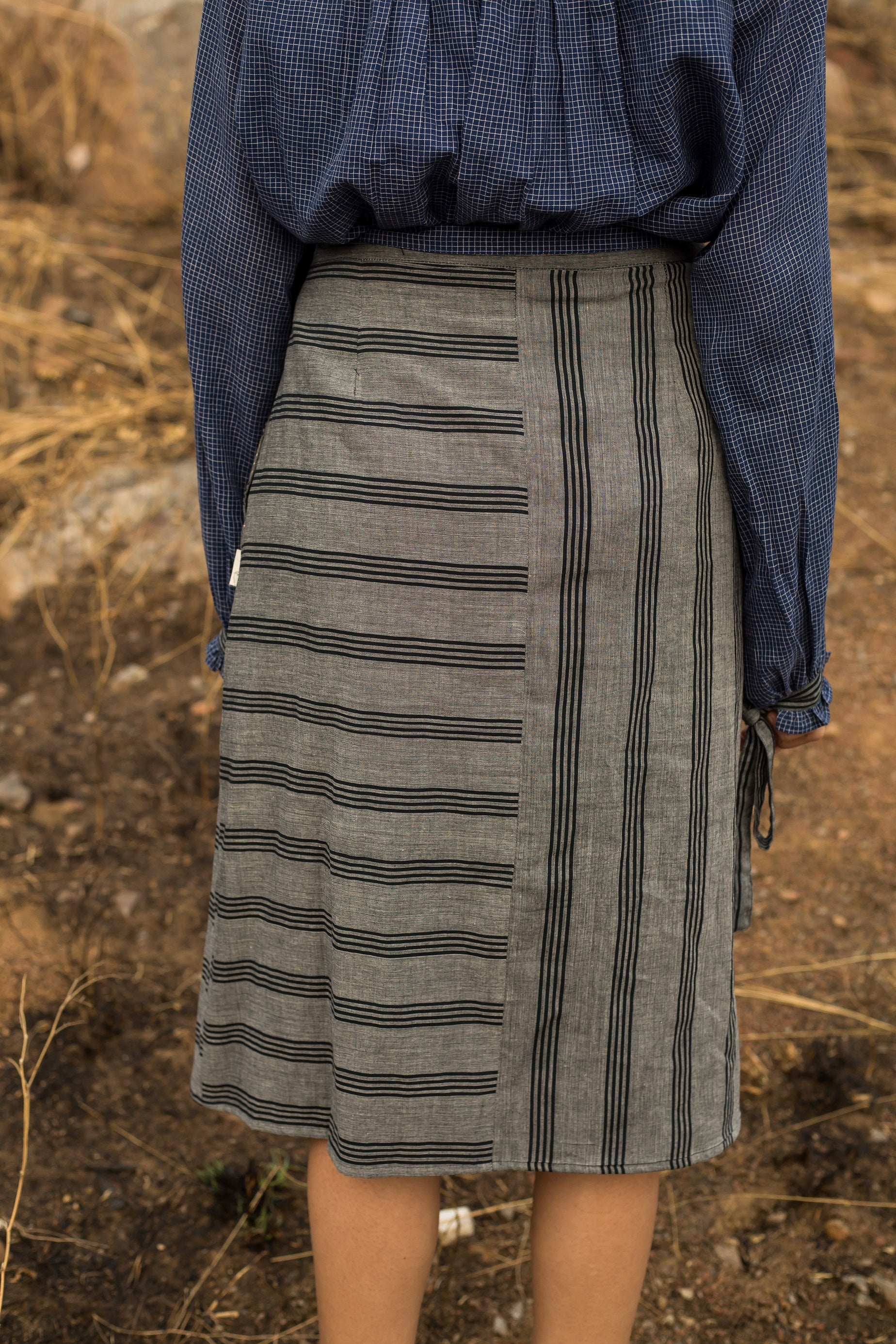 Infinite Knotted Handwoven Cotton Skirt