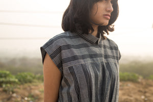 Infinite Pleated Handwoven Cotton Dress
