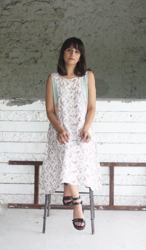 Patchwork Handwoven Cotton Dress