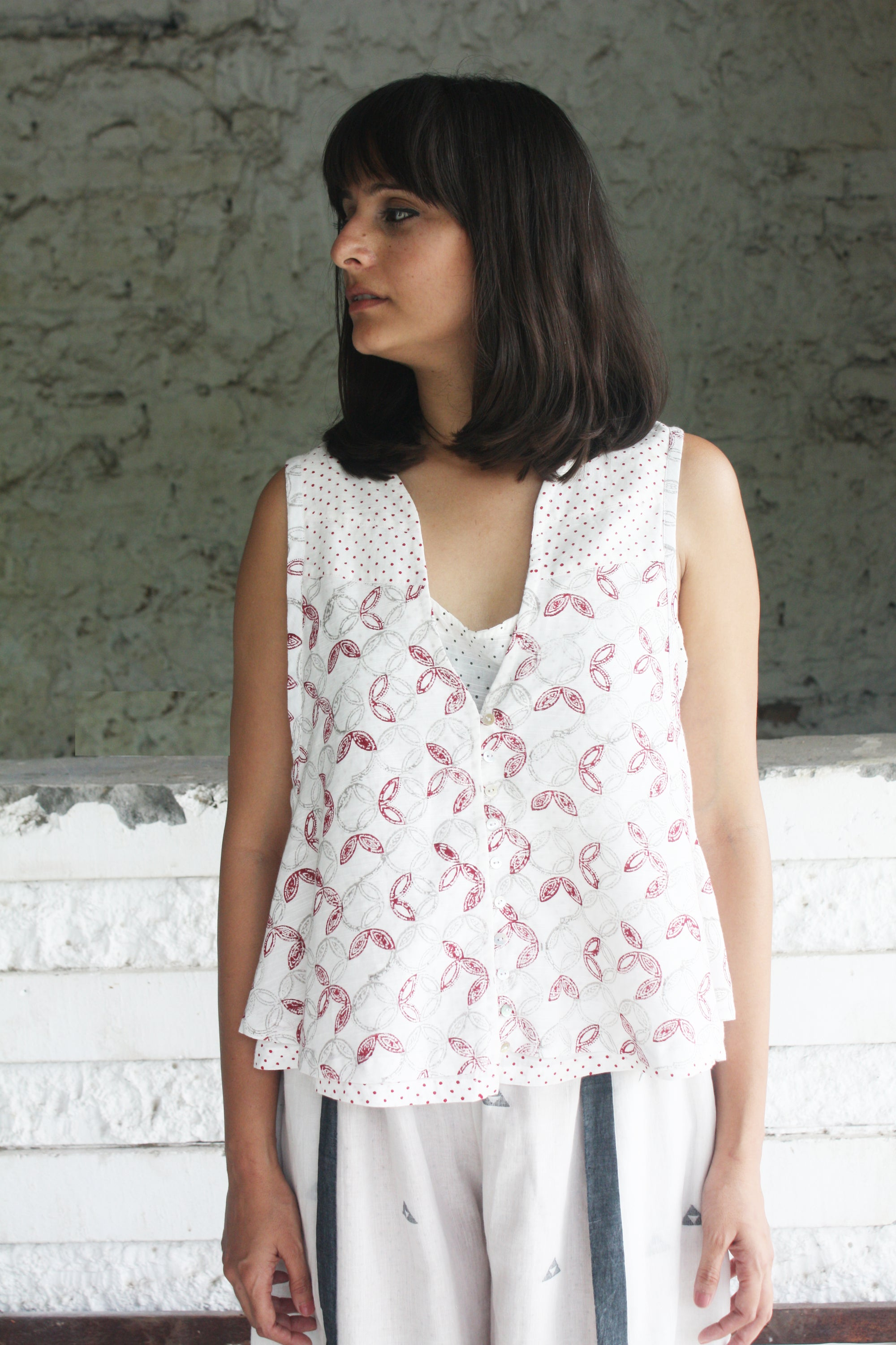 Double Layer Handwoven Cotton Top