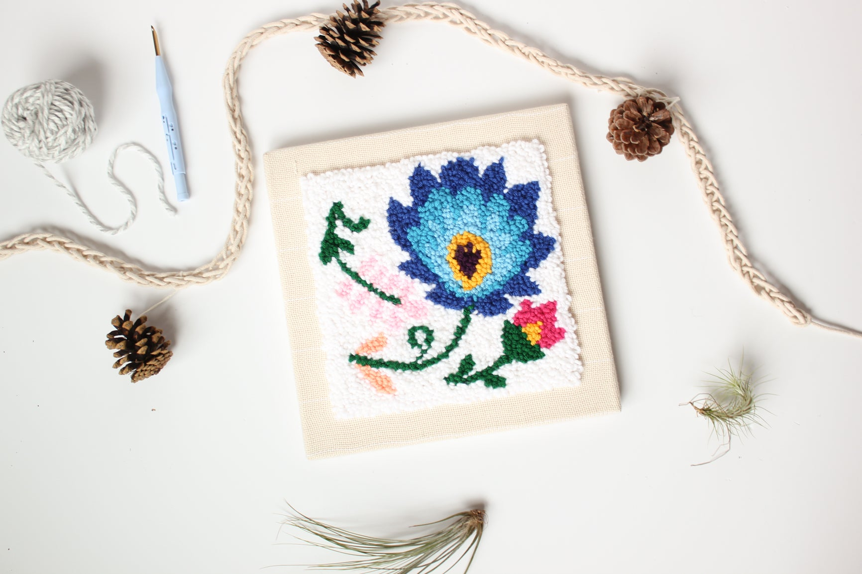 floral punch needle kit