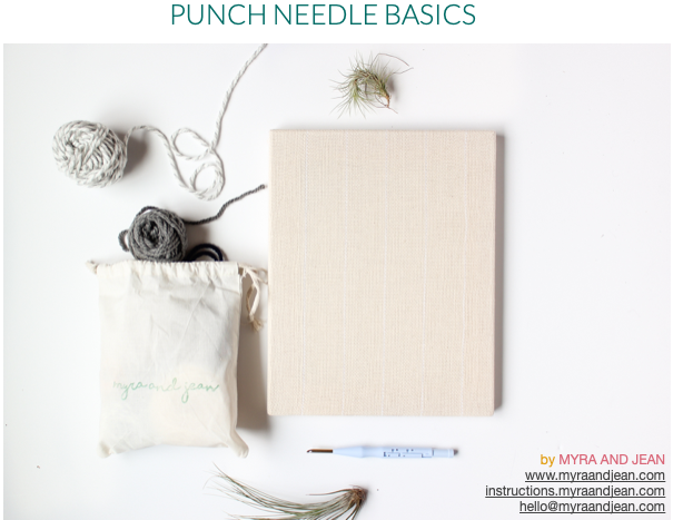 punch needle instructions myra and jean