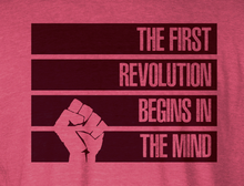 The First Revolution Begins in the Mind Racerback Tank - STRIPES