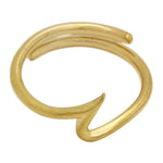 gold wave midi ring