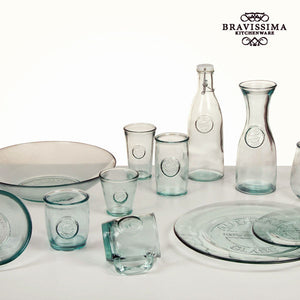 Bottle from recycled glass Transparent - Pure Crystal Kitchen Collection by Bravissima Kitchen