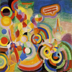 Robert Delaunay, Hommage à Blériot, 1914, Kunstmuseum Basel. Image in public domain.