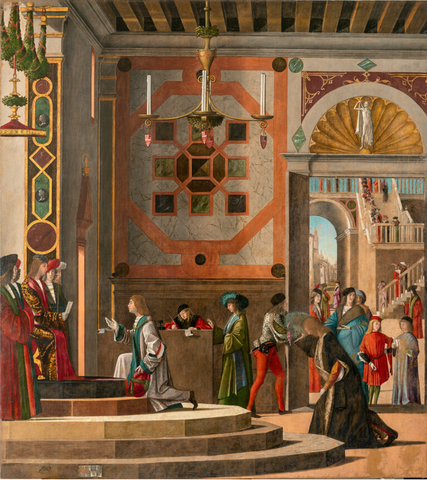 Departure of the Ambassadors, after conservation Tempera and oil on canvas, 281cm x 252cm, Save Venice website