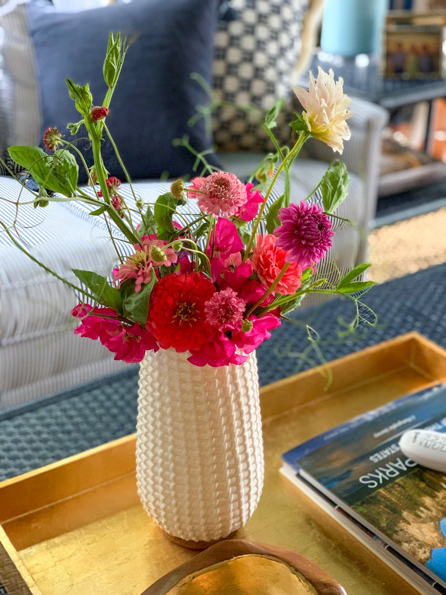 Davis Designs has the most gorgeous summer flower arrangements to impress guests and beautify your home without making any major design changes. Get inspired!