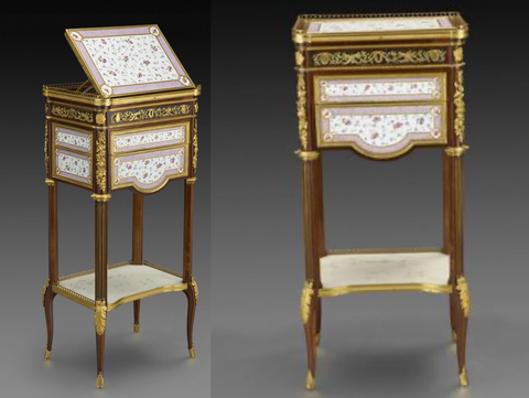Mechanical Table from front and side, Frick Museum Website