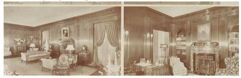 1932, Wood paneling, Errett Lobban Cord House, Cordhaven, Beverly Hills, Architectural Digest 1935