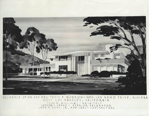 The Tevis and Colleen Morrow House in Pacific Palisades, 1949