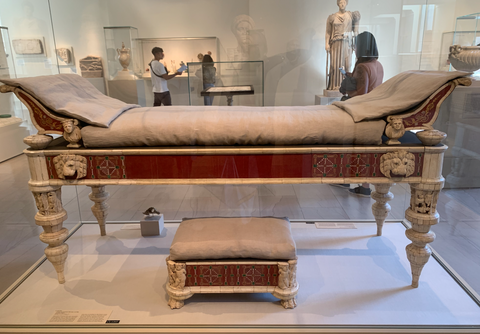 Roman Couch and Footstool