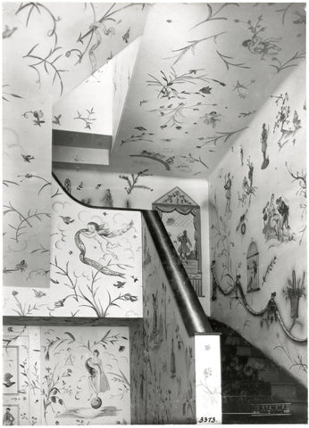 Mural paintings by Lotte Calm (b1897-?), Lilly Jacobsen (b1895-?), Fritzi Low (1891-1975), Anny Schröder (1898-1972) and Vally Wieselthier (1895-1945) at the textile department of the Wiener Werkstätte, Kärntner Straße 32, 1918, MAK Collection