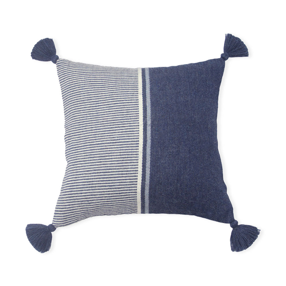 Blue Block Cierre Alpaca Pillow Cover
