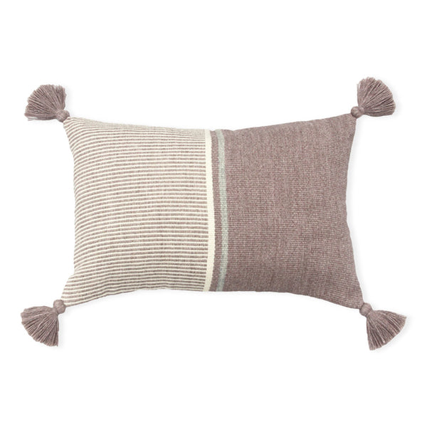 Pink Block Cierre Alpaca Pillow Cover