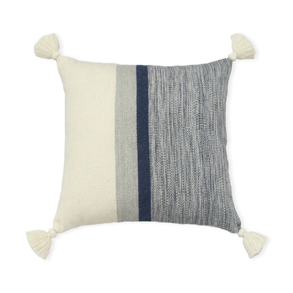 Blue Stripes Melange Alpaca Pillow Cover
