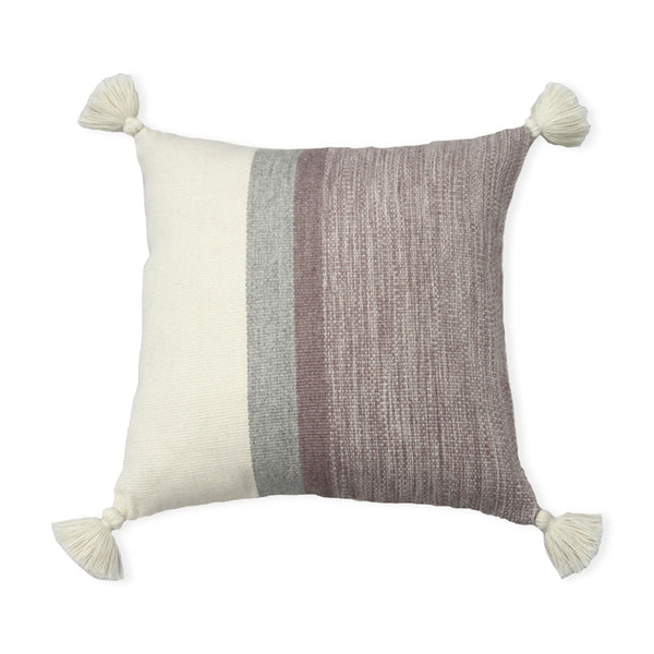 Pink Stripes Melange Alpaca Pillow Cover