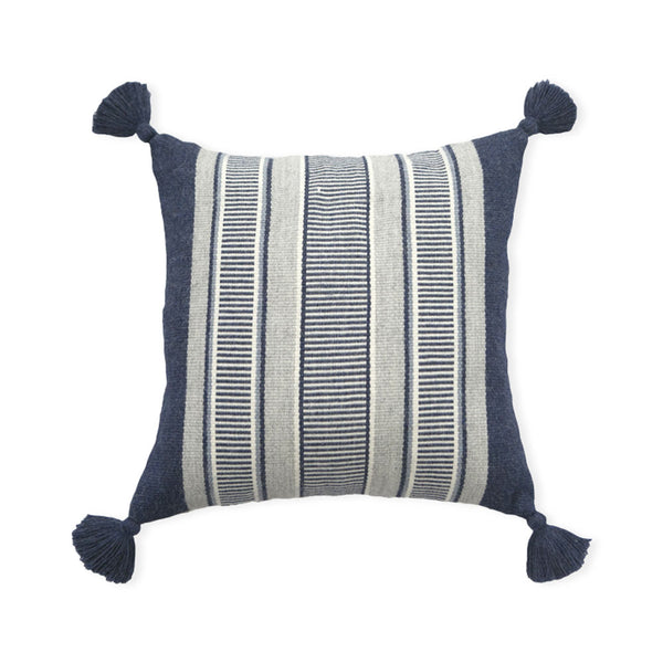 Blue and Gray Cierre Alpaca Pillow Cover