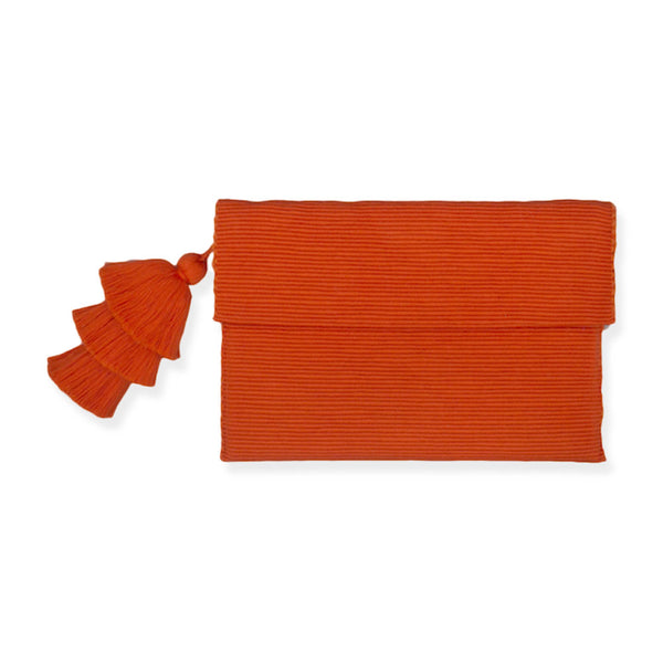 Orange Pima Cotton Clutch