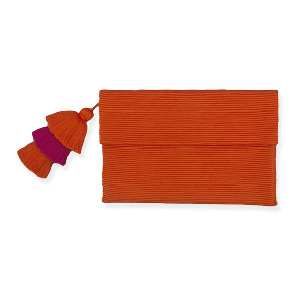 Orange & Pink Pima Cotton Clutch