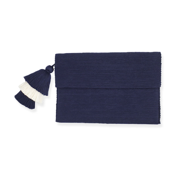 Navy Pima Cotton Clutch