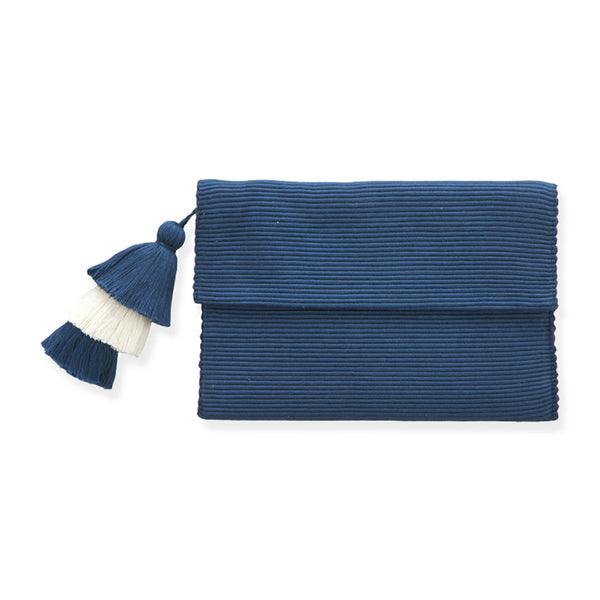 Indigo Pima Cotton Clutch
