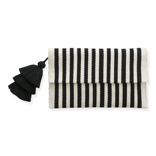 Black and White Pima Cotton Clutch
