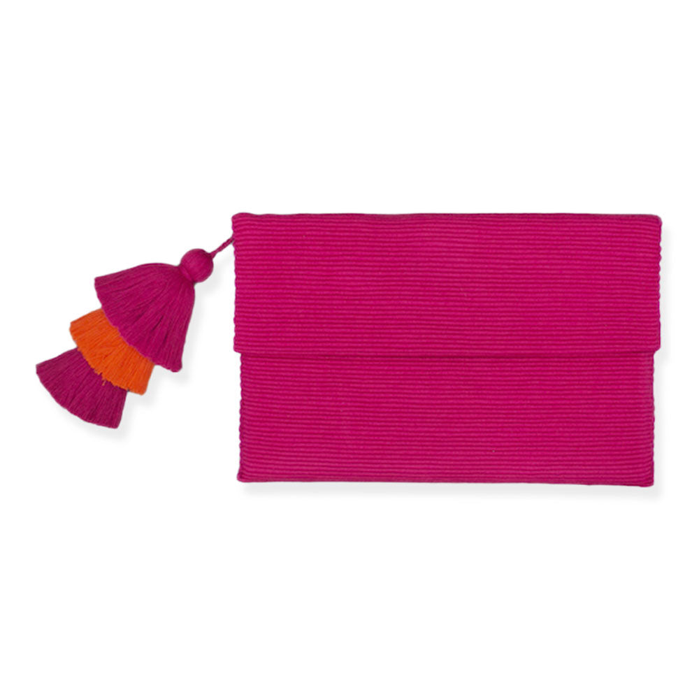 Pink Pima Cotton Clutch