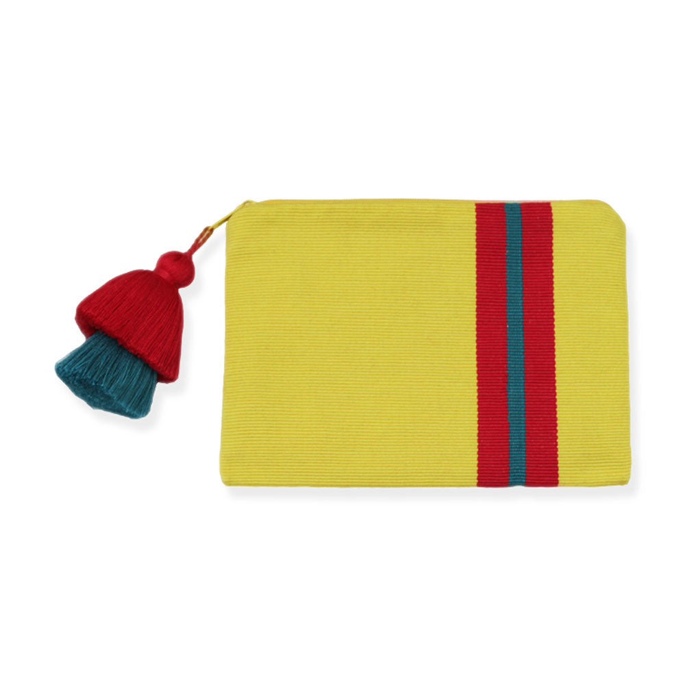 Pais Textil Yellow Striped Pima Cotton Pouch