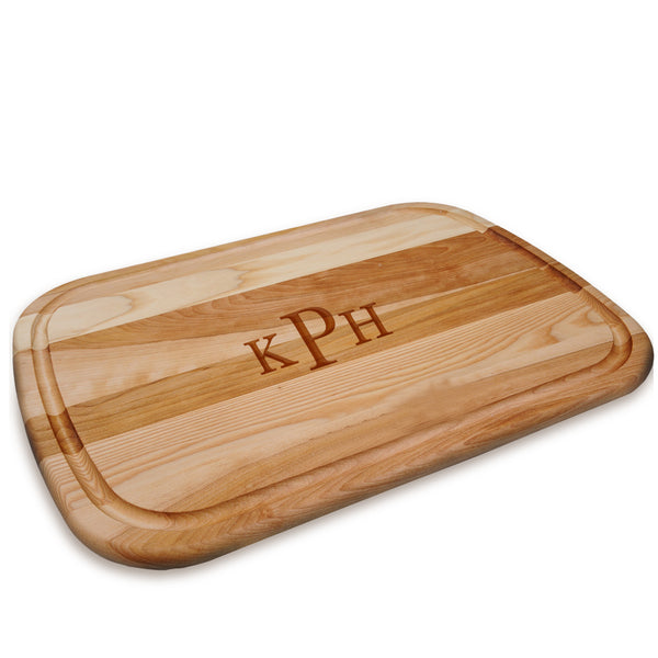 Large Wooden Roman Monogram Artisan Cutting Board