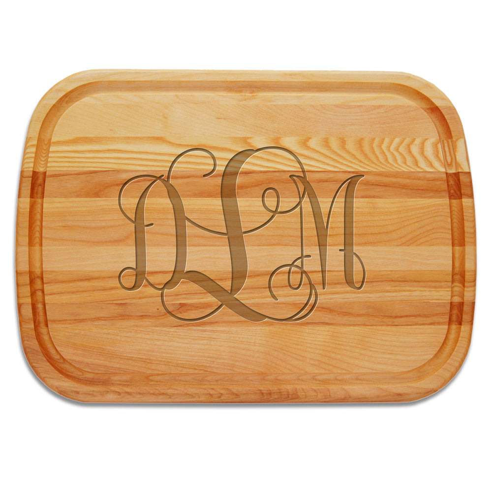 Monogram Large Wooden Cutting Board