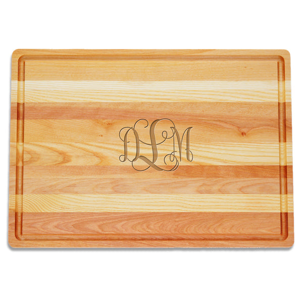 Large Monogram Wooden Cutting Board