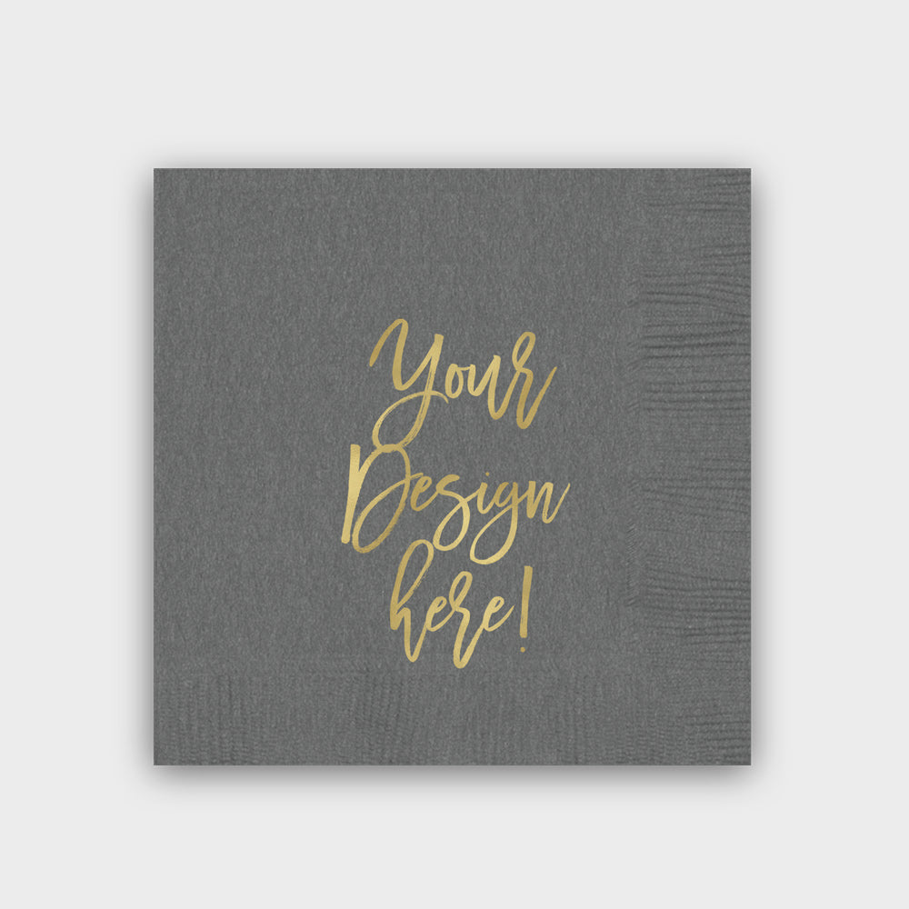 Personalized Gray Napkin