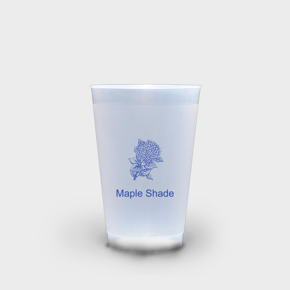 Blue Hydrangea Roadie Cups 16 oz