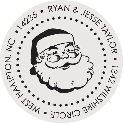 Santa Claus Round Holiday Stamp