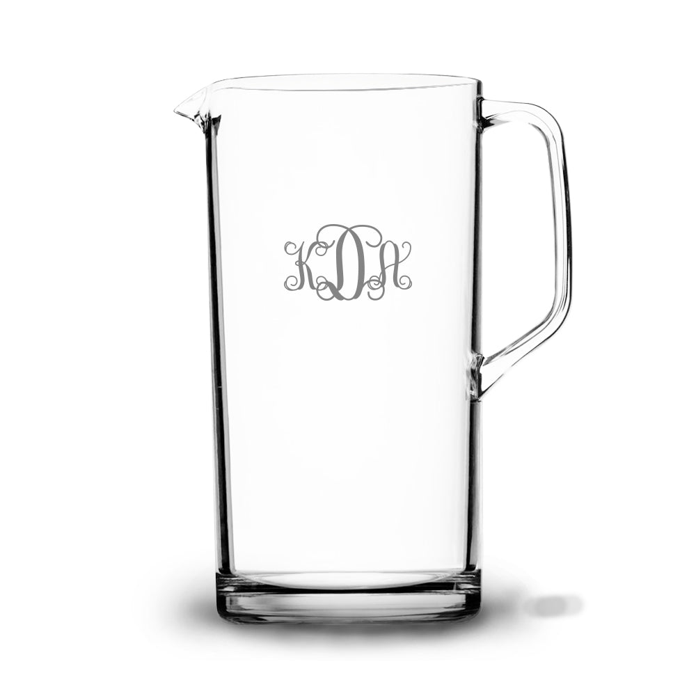 Vine 60 oz Etched Glass Pitcher