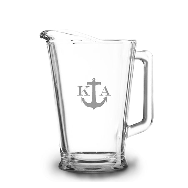 Anchor 60 oz Etched Glass Pitcher