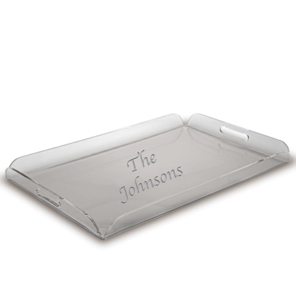 Etched Acrylic Serving Tray