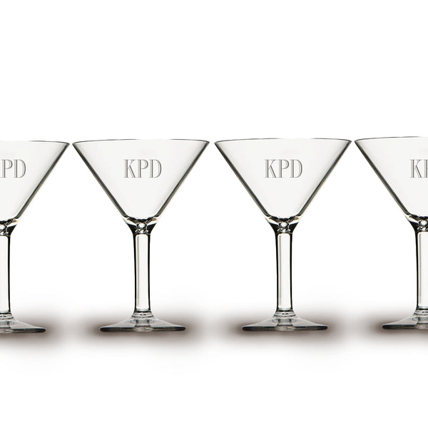 Etched Acrylic Cocktail Martini Beverageware