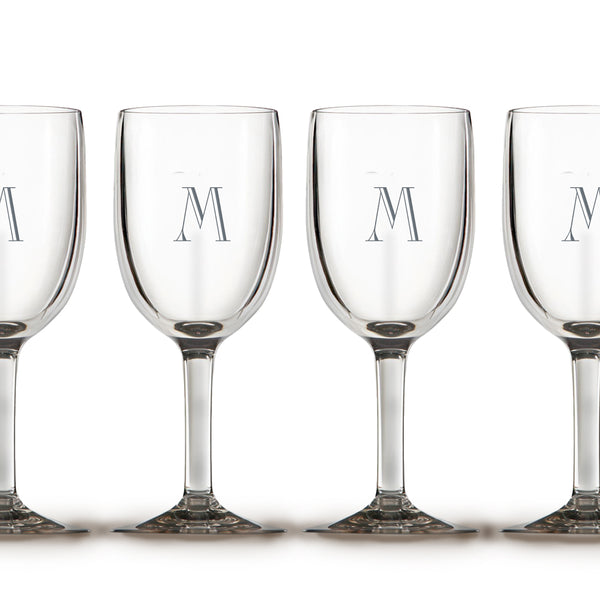 Etched Glass Initial Stemware