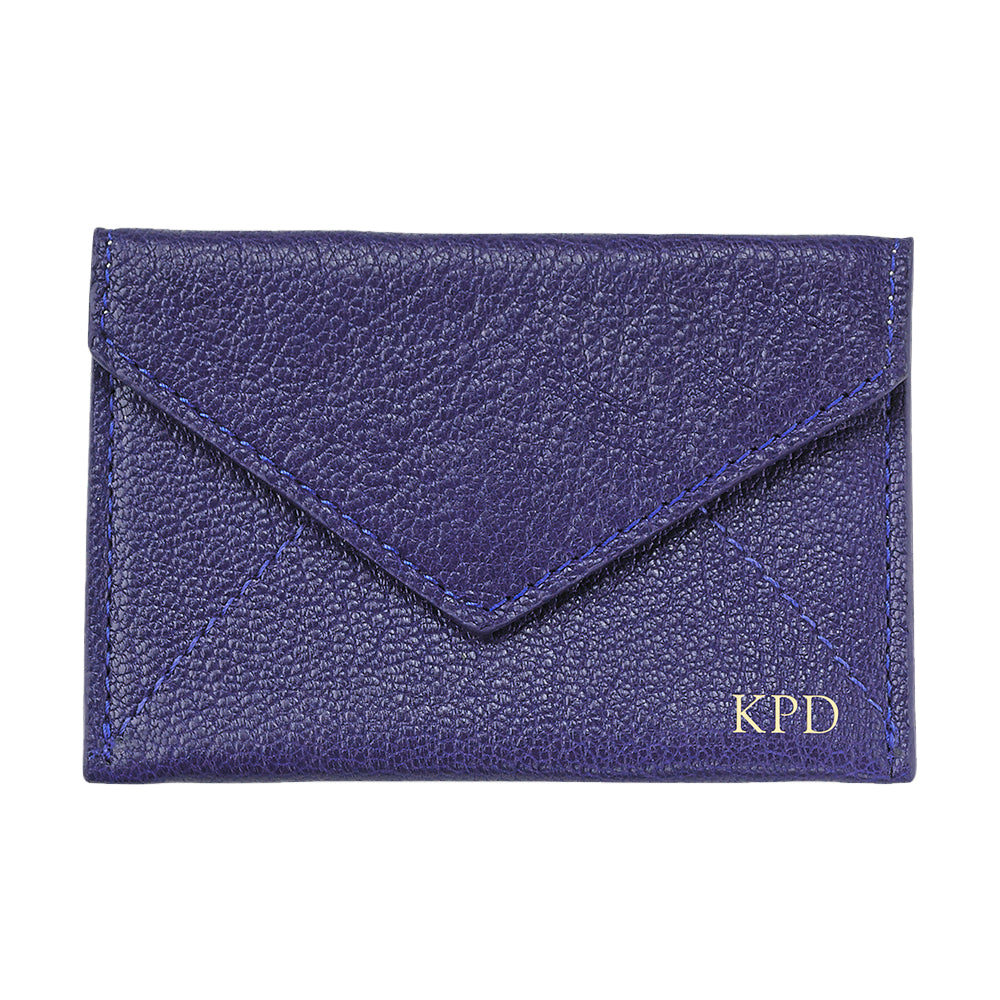 Indigo Leather Mini Envelope