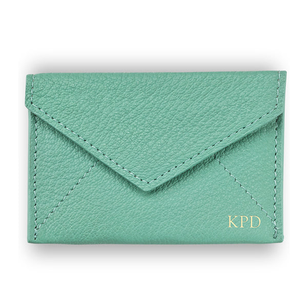 Robin's Egg Leather Mini Envelope