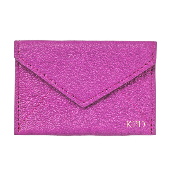 Orchid Leather Mini Envelope