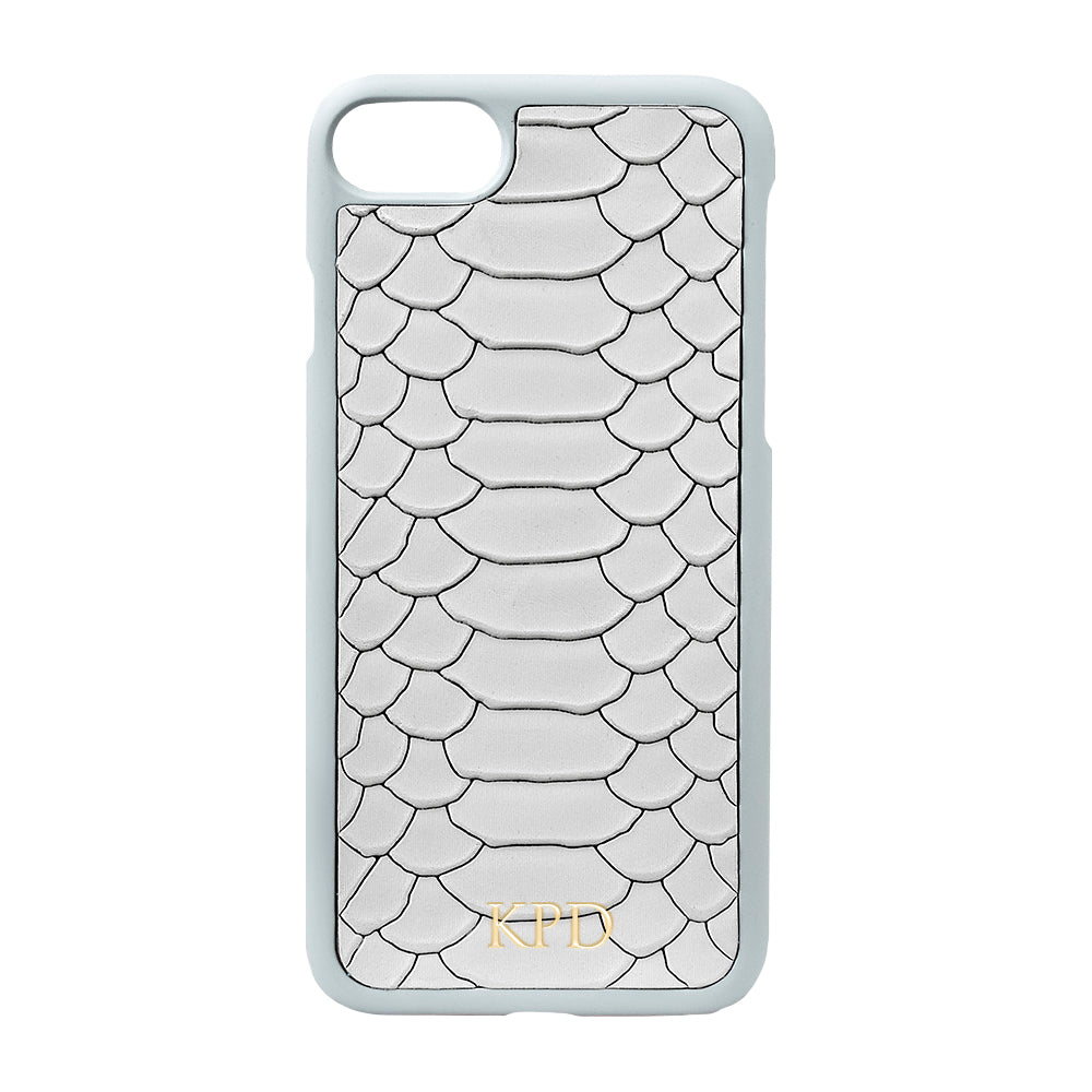 Gray Python Leather iPhone Case