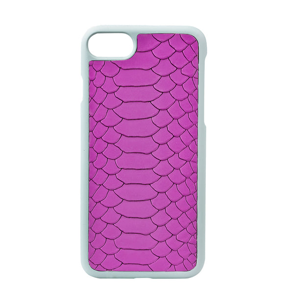 Orchid Python Leather iPhone Case