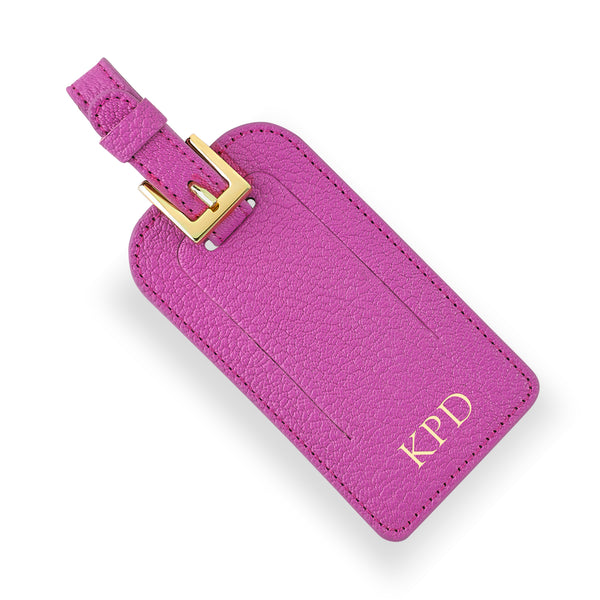 Orchid Leather Luggage Tag