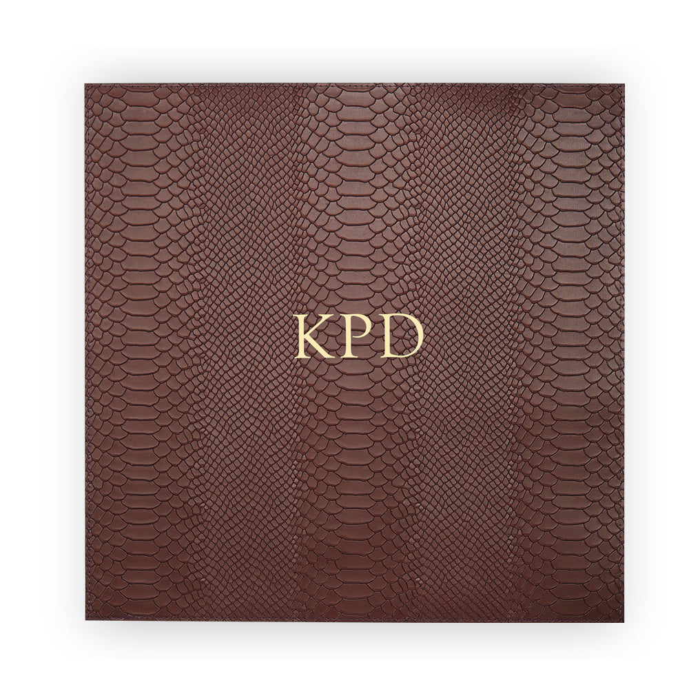 Brown Square Leather Placemat