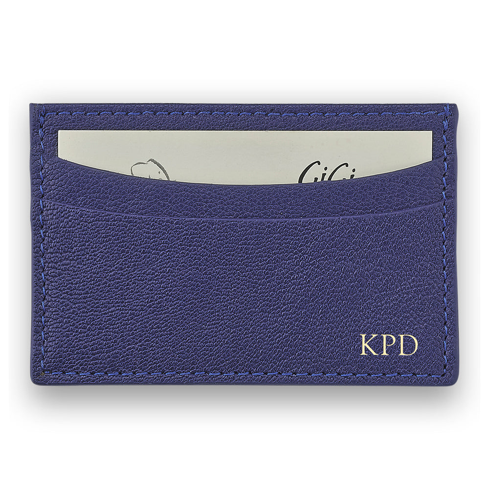 Indigo Leather Slim Card Case